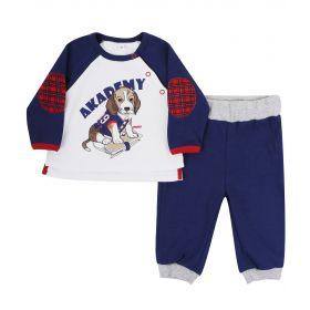 Soni Kids, Комплект: кофточка + брюки Спортивная Академия (бело-синий) Soni Kids