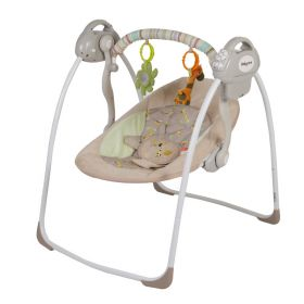 Baby Care Электрокачели Riva с адаптером (коричневый) Baby Care