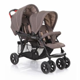 Baby Care Коляска для двойни Tandem (Brown/Grey) Baby Care