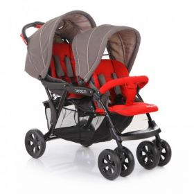 Baby Care Коляска для двойни Tandem (Grey/Red) Baby Care