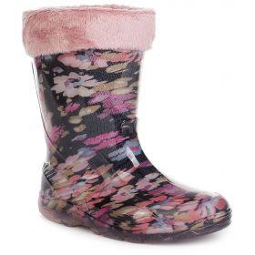 Ortotex, Сапоги резиновые Bamby Confort утепленные (розово-черные) Ortotex