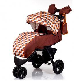 Babyhit Прогулочная коляска Voyage Air (коричневая с оранжевым) Babyhit