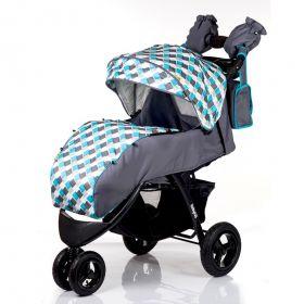 Babyhit Прогулочная коляска Voyage Air (серая с голубым) Babyhit