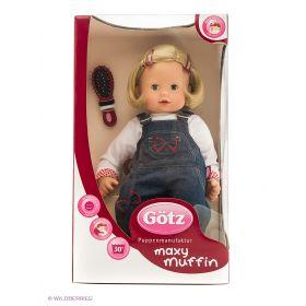 Кукла  Максимаффин, блондинка в джинсовом комбине GOTZ