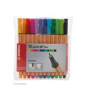 Ручка капиллярная mini, 12 шт. Stabilo