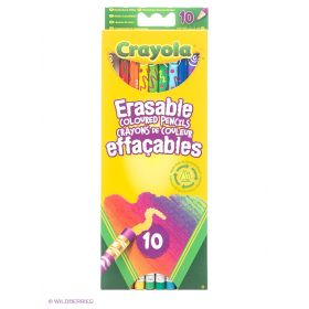 Набор цветных карандашей с корректорами Crayola