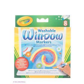 Набор смываемых маркеров для рисования на стекле Crayola