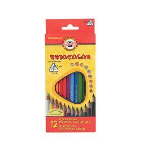 Набор карандашей цветных трехгранных