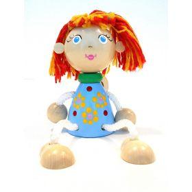 Игрушка подвеска на пружине - Девочка в синем платье Taowa