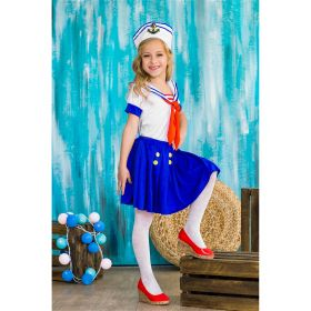 Детская ретро форма морячки, юной мореплавательницы, покорительницы морей, юнги, капитана корабля La Mascarade