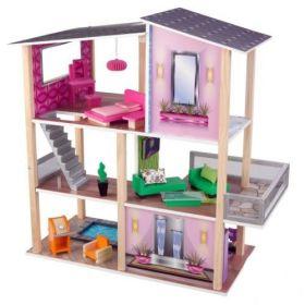Кукольный домик с мебелью Стильный коттедж KidKraft