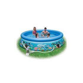 надувной бассейн с рисунком intex ocean reef Intex
