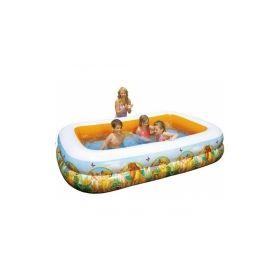 бассейн надувной intex король лев 262x175x56 см  арт.57492 Intex