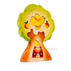 Гном в дереве Сказки дерева