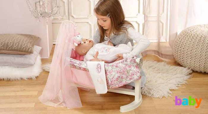 Музыкальная колыбель Baby Annabell Rocking Cradle with nightlight