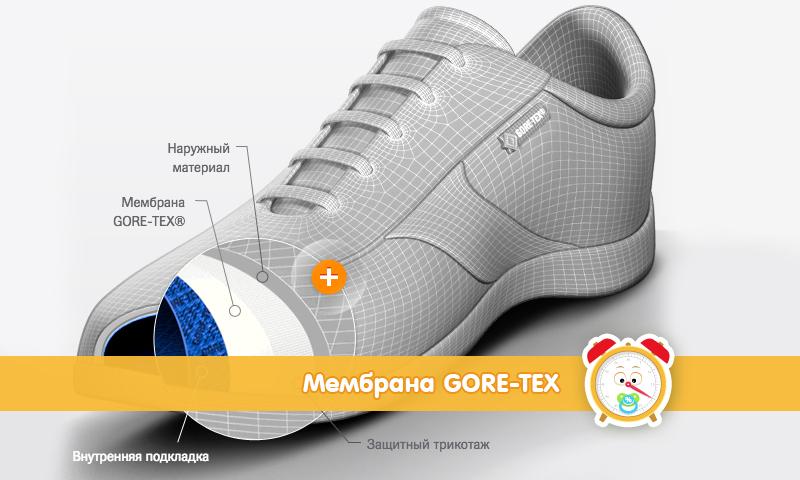 Детская обувь с мембраной Gore Tex